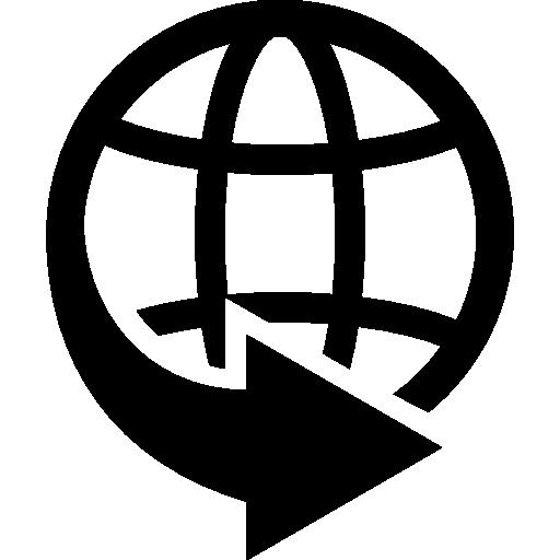 земной шар и стрелка