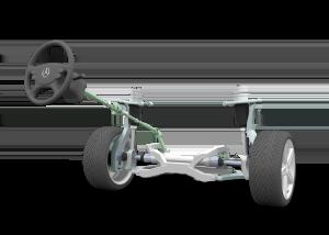 Расположение рулевых реек
