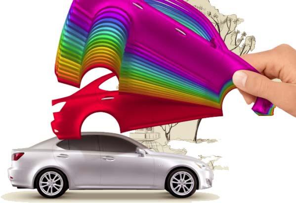 автомобиль и цветовая палитра