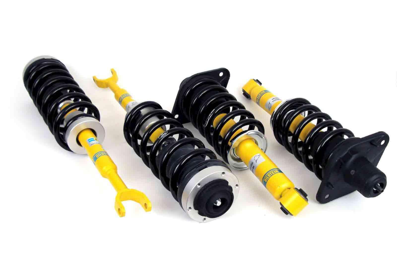 четыре новых желтых пружины и амортизаторы