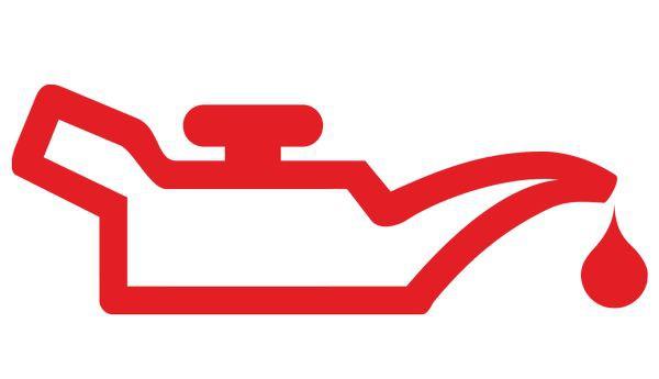красный значок замены масла