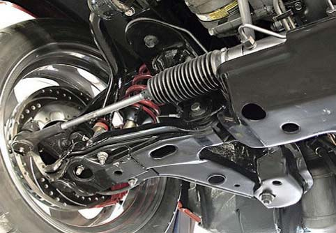 система рулевого управления из под машины